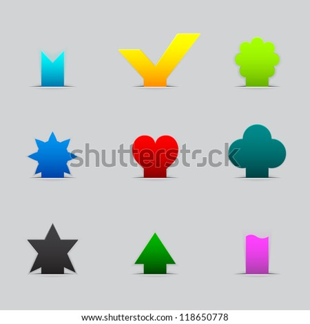 Set of different tabs - stock photo