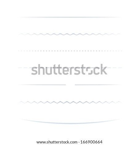 Set Of Dividers, Isolated On White Background - stock photo
