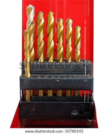 set of drills. metal bore set. drill set for metal and wood.