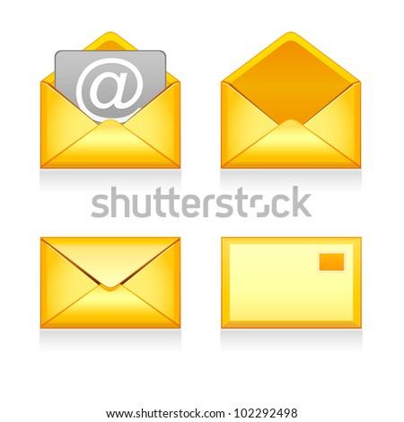 Set of e mail icon - stock photo