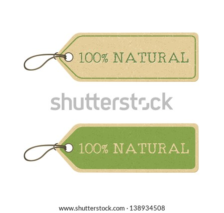 set of eco friendly labels. Raster copy of vector illustration - stock photo