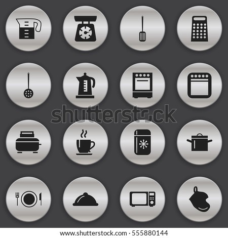 Vector Symbols Cooking Utensils On White Stock Vector 137581130 ...