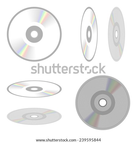 set of elements for design DVD or CD disc isolated on white background raster