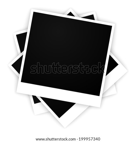 set of empty frames for photos (raster version, available as vector too) - stock photo