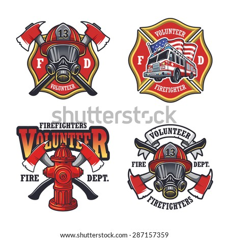 set firefighter emblems labels badges logos stock firefighter logo clipart firefighter logo maker