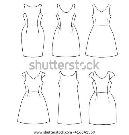 dress sketch template - Vaydile.euforic.co