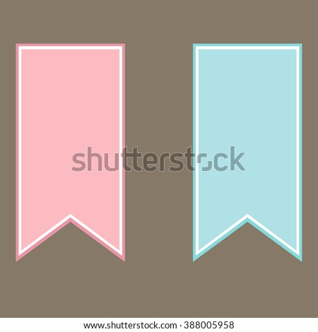 Set of flyers in pink and blue tones - stock photo