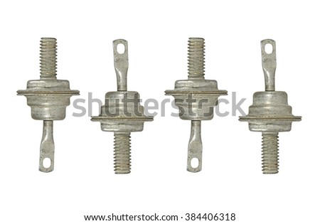 Set of four diode isolated on white background. - stock photo