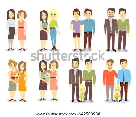 Gay Families Illustrations & Vectors