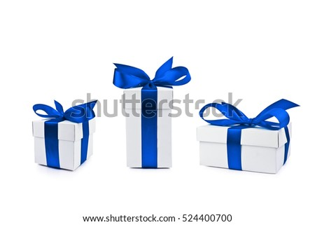 set of gift box isolated
