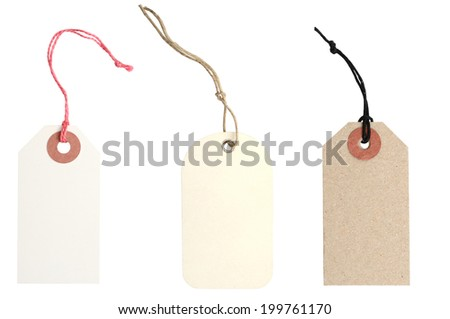 set of gift tags decorating  - stock photo