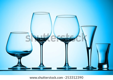 Set of glass - stock photo