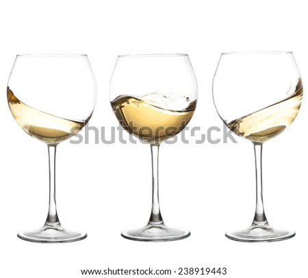 Set of glasses with  WHITE wine