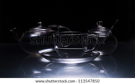 Set of glassware