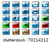 set of glossy buttons for web. The similar image in my portfolio in vector format. - stock photo