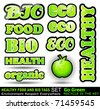 Set of Go Green Bio Tags to use for Stickers or