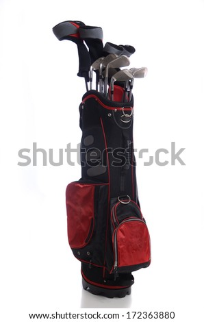Set of golf clubs - stock photo