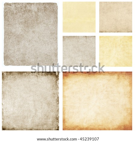 Set of great paper textures isolated on white - stock photo