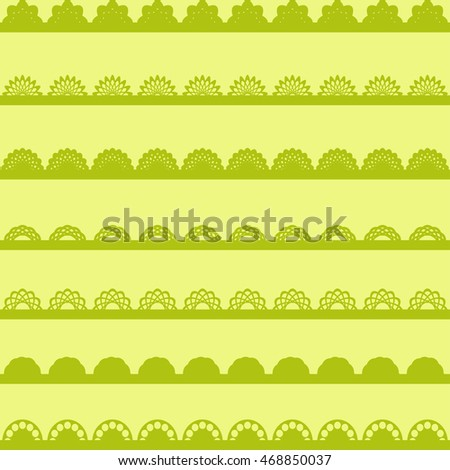 Set of green Lace Paper Borders