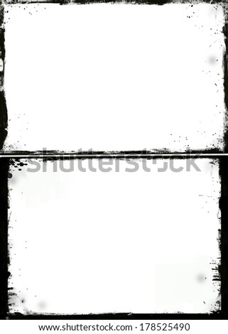 Set of 2 grunge frame - stock photo