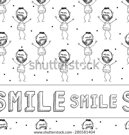set of hand drawn faces, smiles isolated. smileys each with a different facial expression and emotion, sketched outline on white - stock photo