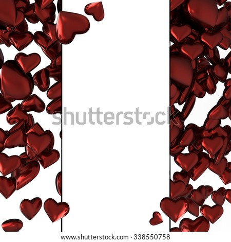 Set of  hearts.Valentines Day posters