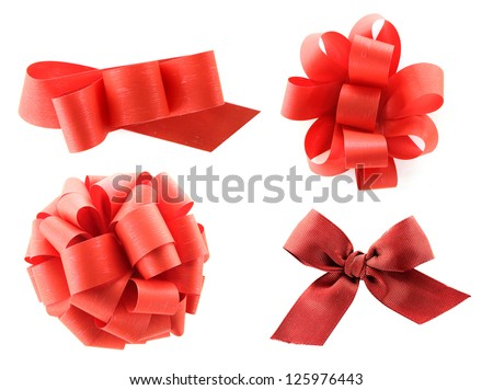 Set of holiday bows collection