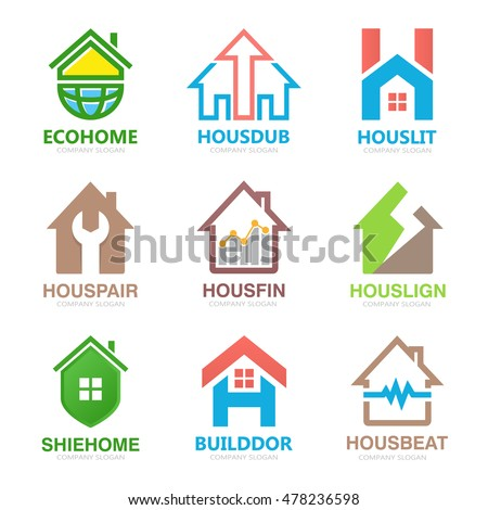 Set Of House Logo Design Template. House Logo. Home Logo. Real Estate Logo Part 97