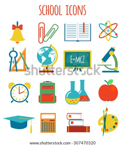 set of icons education.flat style.