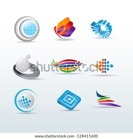 Set of icons illustration