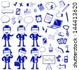 set of icons related to business and finance (vector available in my gallery) - stock vector
