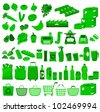 set of icons related to supermarkets and shopping (vector available in my gallery) - stock photo