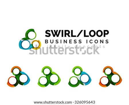 Set Infinity Concepts Loop Logo Designs Stock Illustration 326095643