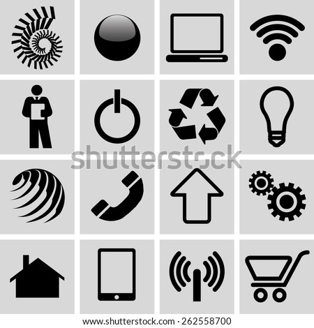 Set of infographic icons - stock photo