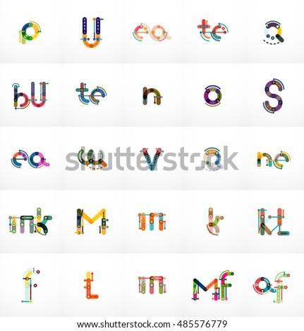 Set Initial Branding Letter Logo Templates Stock Illustration