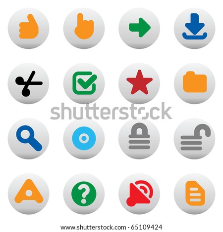 Set of internet icons for websites. Raster version. For vector version of this image, see my portfolio.