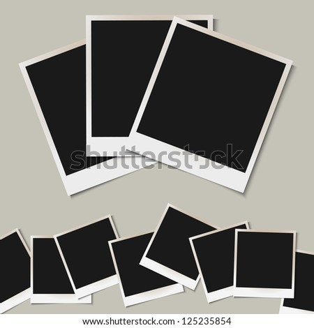 Set of  isolated Photo frames. Raster version - stock photo