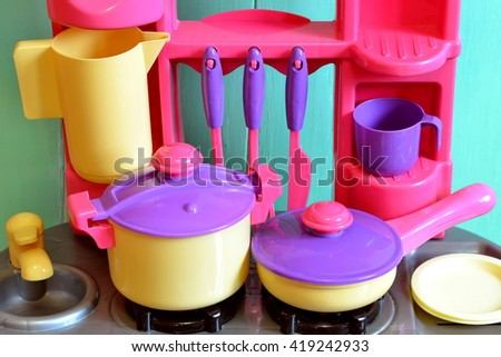 Play Kitchen Dishes toy kitchen stock images, royalty-free images & vectors | shutterstock