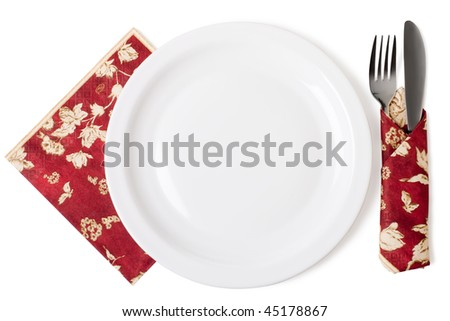 Set of kitchen object. Iisolated on white background with clipping path - stock photo