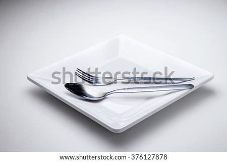 Set of kitchen object on a white background. - stock photo