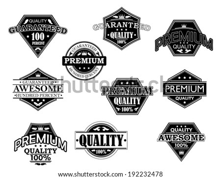 Set of labels and banners in retro style for retail logo design. Vector version also available in gallery - stock photo