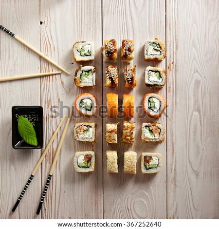 Set of Maki Sushi - stock photo