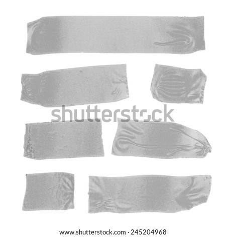 Set of masking tape slices on white - stock photo