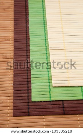 Set of mats for a kitchen table