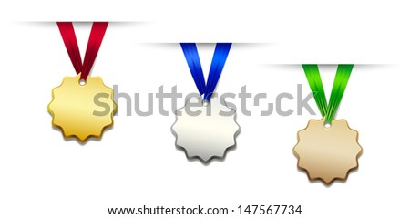Set of medals - stock photo