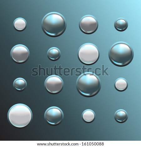 set of metal buttons  three-dimensional background