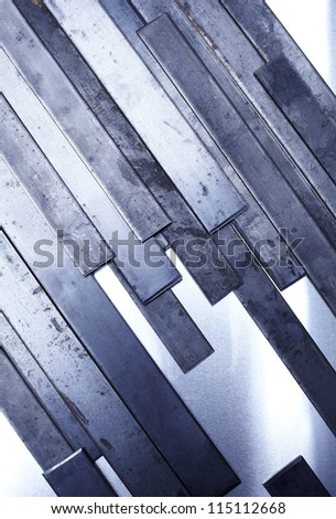 Set of metal plate steel background. - stock photo