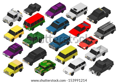 Set of Military vehicles. 3d  - stock photo