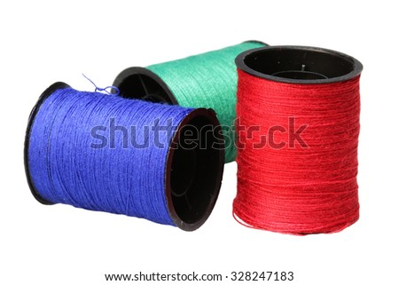 Set of multi-colored threads