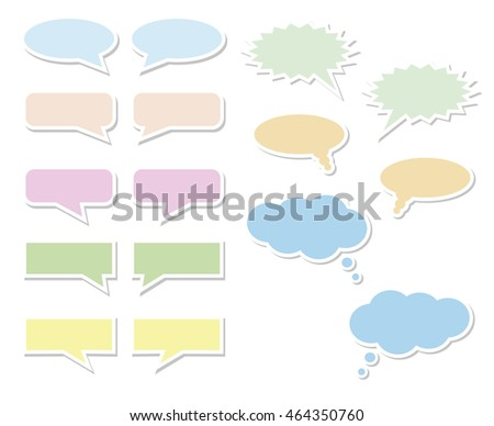 Set of multicolored bubbles for speech on a white background, illustration
